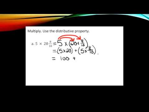 Multiplying Fractions with the Distributive Property