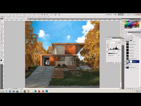 Insert A New Background For Your Rendering: V-Ray Alpha Channel + Photoshop