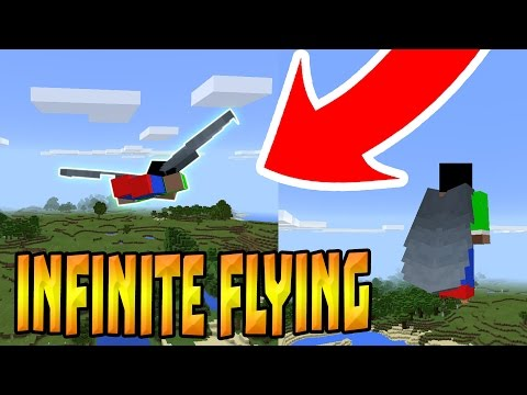 How to fly forever in Minecraft Pocket Edition!!!