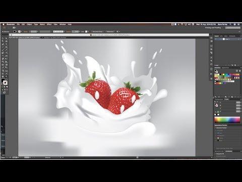 How to Create Milk and Water Splash Effect in Adobe Illustrator Cc tutorial