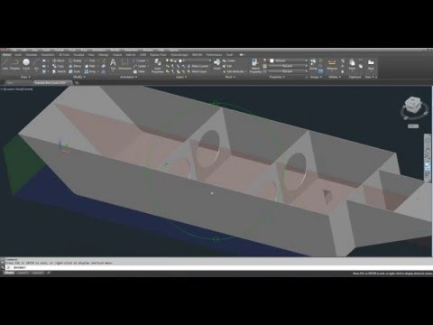 AutoCAD Tutorial Video - Center of Gravity