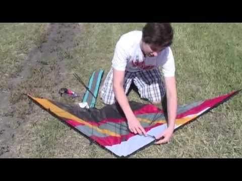 Setting up your dual line Stunt Kite