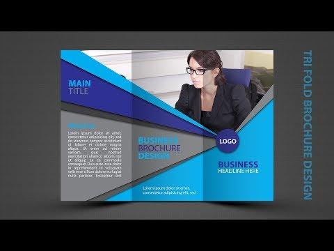 Tri Fold Brochure Design   In Photoshop cc tutorial In Hindi / Urdu