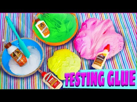 Fluffy Slime Wood Glue Challenge! No Activator! Which Glue Makes the Best Slime?