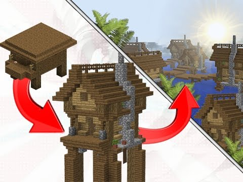 Minecraft: How To Transform A Witch Hut Into A Village!