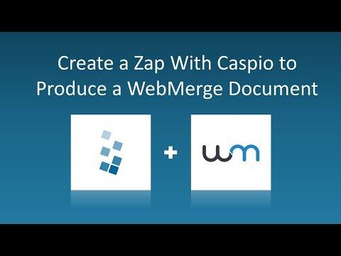 Create a Zap with Caspio to Produce a WebMerge Document