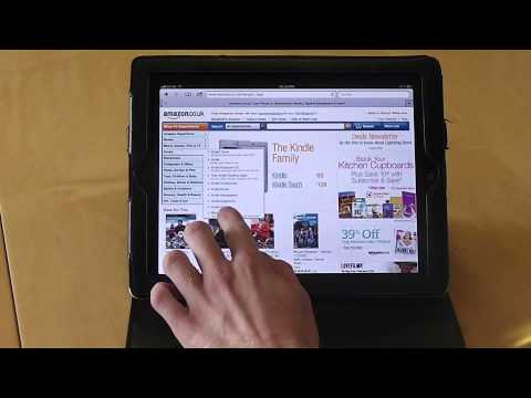 Download books onto your Kindle app iPad