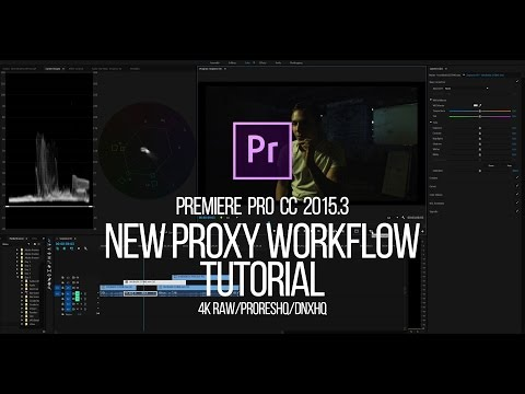 Proxy Workflow: Edit Large 4k RAW files on a Laptop! Premiere Pro CC 2015 and 2017