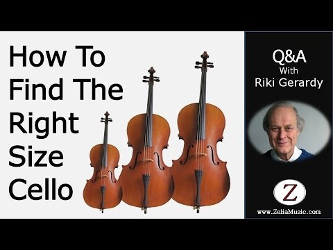 How To Find The Right Size Cello | Zelia Ltd. | 020 8958 4456