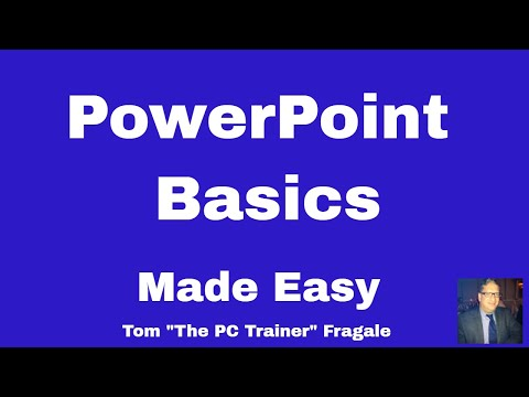 PowerPoint Basics - Getting Started with PowerPoint 2016 2013 2010 2007 tutorial for beginners