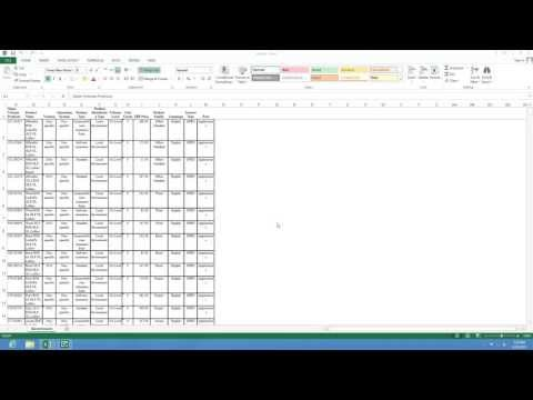 How to use sort and filter using Microsoft Excel 2013