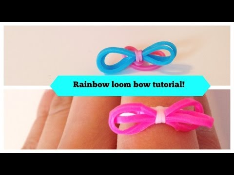 Rainbow Loom bow tutorial! With and without loom!
