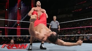 Santino Marella & The Great Khali vs. The Real Americans: Raw, Oct. 7, 2013