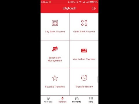 How to Use City Bank Citytouch App