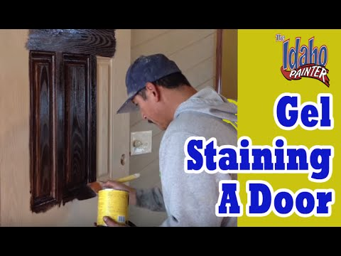 Gel Staining Fiberglass Doors.  How to use Gel Stains.