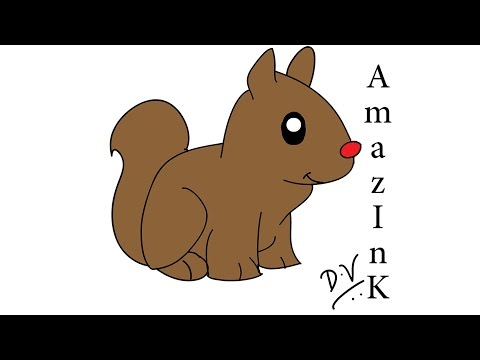 Learn How To Draw A Squirrel