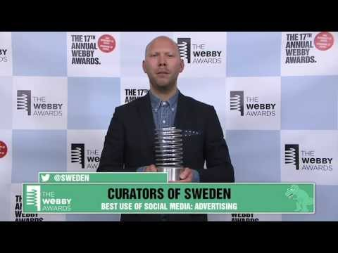 Curator's of Sweden's 5-Word Speech at the 17th Annual Webby Awards