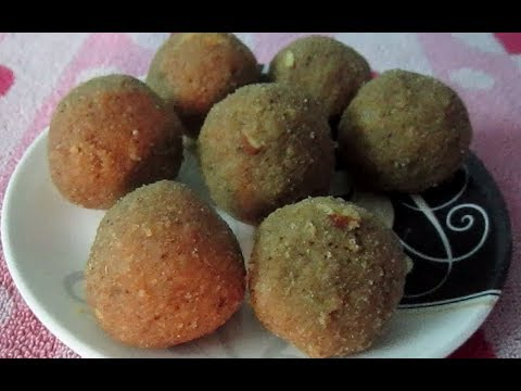 Churma ladoo (with leftover roti)