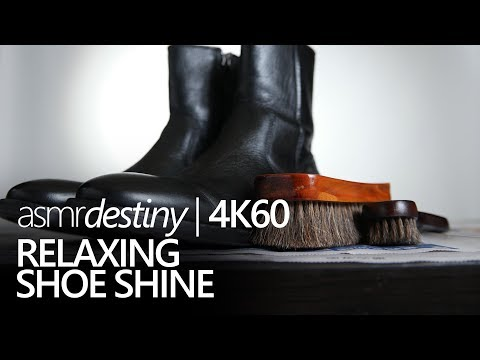 ASMR | Shoe Shine for Relaxation - No talking, brush & cloth sounds (4K60)