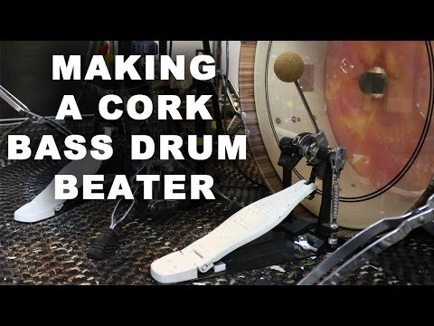 Cork Bass Drum Beater for Redeye Percussion