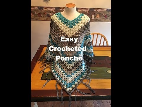 Easy Crocheted Poncho Tutorial