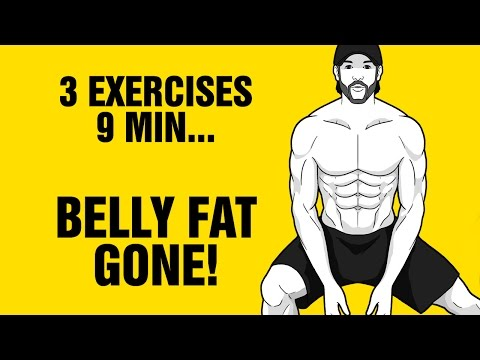 9min Tri-Bata Belly Fat Burning Workout - Get 6 Pack Abs Fast