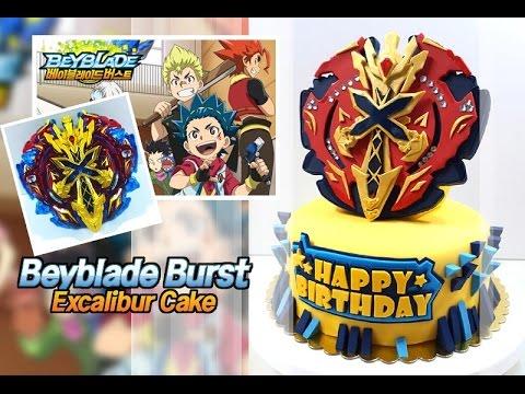 베이블레이드엑스칼리버케이크만들기Beyblade burst excalibur cake スターター ゼノエクスカリバー