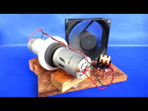 Free energy fan electricity 12V generator with DC motor - Easy experiments at home