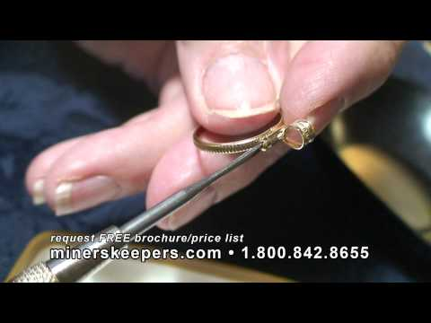 How to Make a Gold Filled Bezel Pendant Jewelry with Miner's Keepers