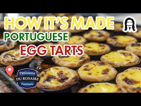 How It's Made - Montreal's best Portuguese egg tarts (pastel de nata)
