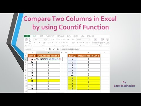 How to compare two columns in excel - Compare two data sets