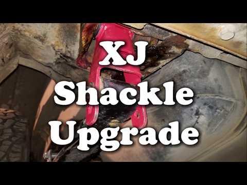 Installing Longer Spring Shackles -  Jeep Cherokee (XJ)