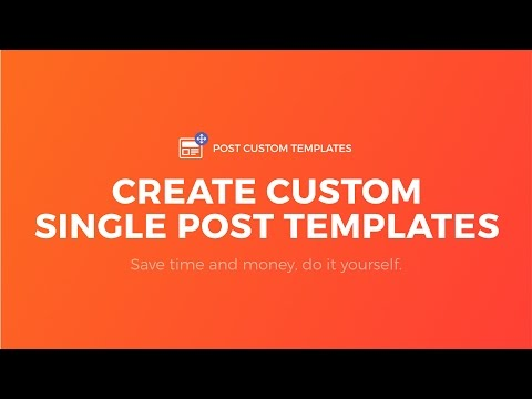 Create Single Post Template for WordPress - No Code, Works on Any Theme - Post Custom Templates Pro