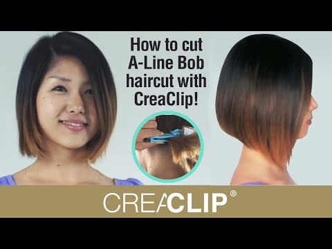 As Seen on Shark Tank ! How to cut A-Line Bob haircut with CreaClip!