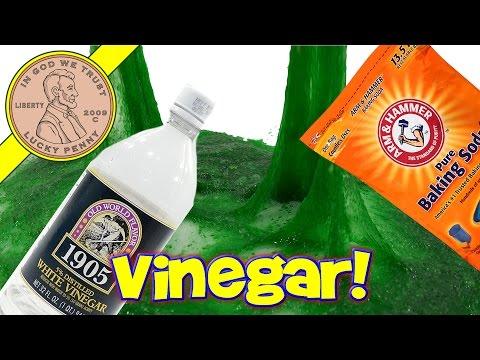 Make Vinegar & Baking Soda Slime - Will It Slime? Vinegar & Baking Soda