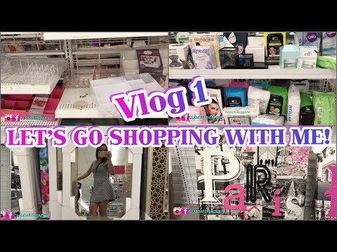 1ST VLOG | LET'S GO SHOPPING WITH ME | HOME DECOR, MAKEUP ROOM DECOR