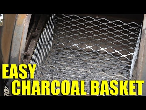 Easy No Weld Charcoal Basket For Your Smoker