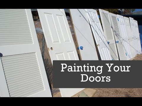 HOW TO SPRAY DOORS.  Painting Doors With A Paint Sprayer.  Spraying Interior Doors.