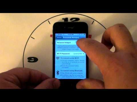 iPhone 4 How to turn on the hot spot