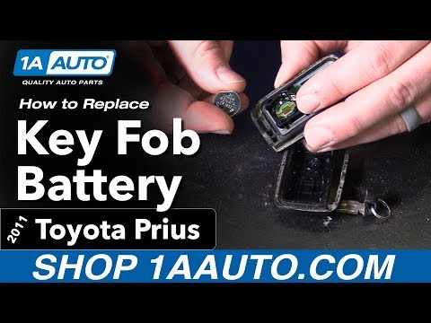 How to Replace Install Key Fob Battery 11 Toyota Prius