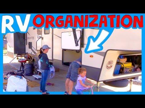 🏕 FULL TIME RV ORGANIZATION IDEAS 🚍RV Living with Kids California 🏞 RV Under Pass Tour