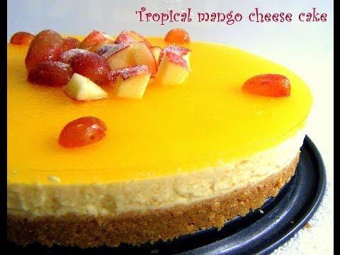 Mango cheese cake in tamil - No bake and Eggless!!!!