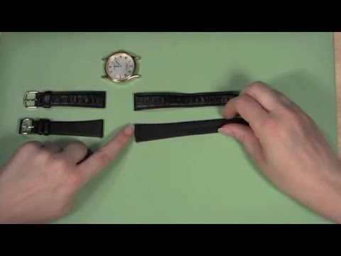 How to Change a Leather Watch Band in a Watch Case with Holes