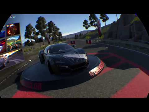 Driveclub VR gameplay on PS4 VR with steering wheel
