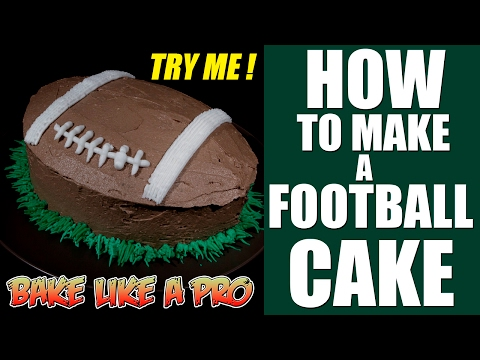 How To make a football cake tutorial - HOW TO CREATE The shape !