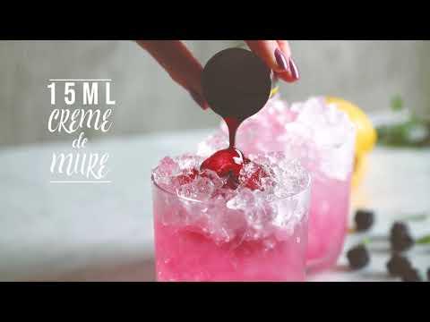 Sloe Gin Bramble Cocktail