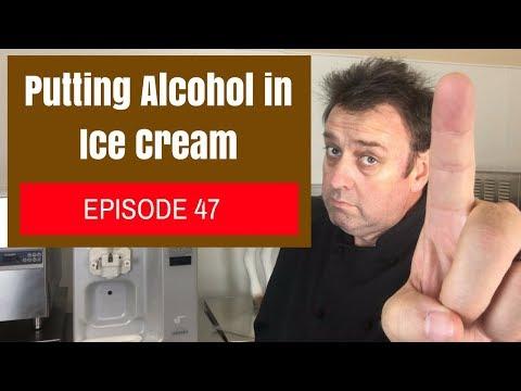 Putting Alcohol in Ice Cream