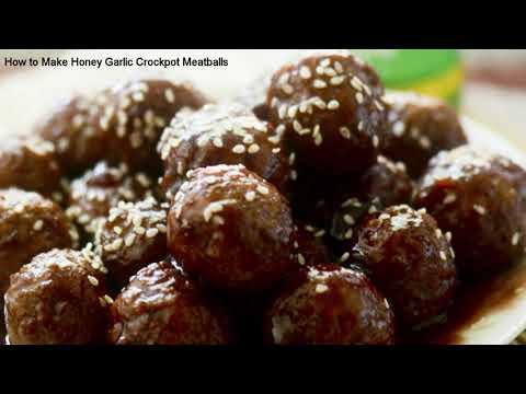 How to Make Honey Garlic Crockpot Meatballs