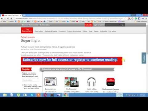 How to Read The Economist Newspaper Without Subscription