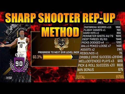 BEST GRIND METHOD FOR SHARP SHOOTERS - NBA 2K18 TUTORIAL